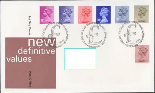 1983 GB - FDC - 7 x Changed Definitives 3½p to 31p (Addressed)
